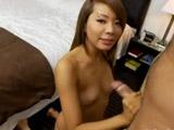 Asiática veinteañera grabada en un casting - Asiaticas