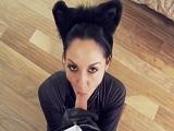 Follando con una gatita en la fiesta de disfraces - Morenas
